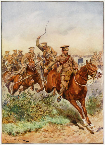 Royal Artillery Wall Art - Drawing -  Royal Field Artillery         Date 1910 by Mary Evans Picture Library