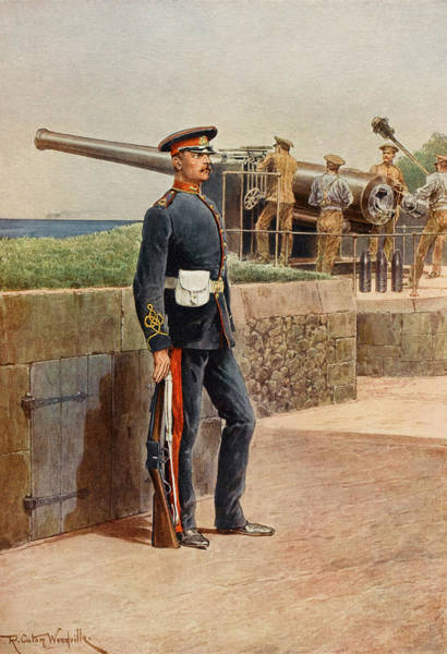 Royal Artillery Wall Art - Drawing -  Royal Garrison Artillery         Date by Mary Evans Picture Library
