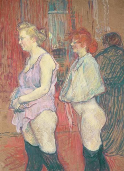Bottom Painting -  Rue Des Moulins by Henri de Toulouse-Lautrec