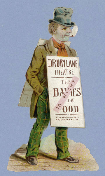 Babe Drawing -  Sandwichman Advertising A  Pantomime - by Mary Evans Picture Library