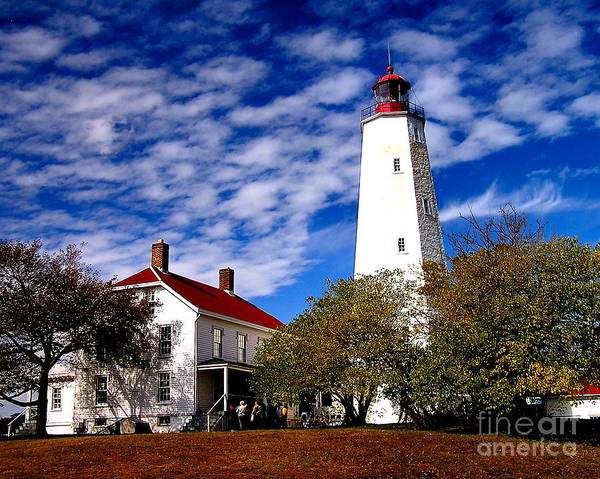 Photograph -  Sandy Hook Light by Nick Zelinsky