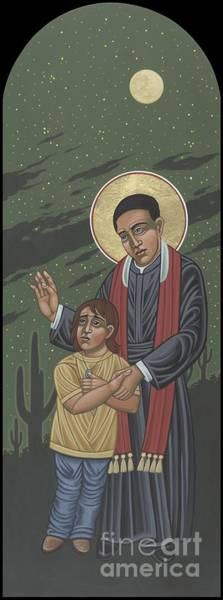 Painting -  Santo Toribio Romo Y Gonzalez Patron Of Immigrants 277 by William Hart McNichols