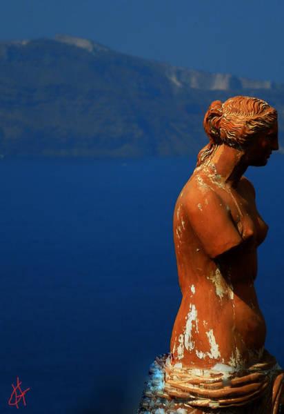 Photograph - Afrodite Watching Over Santorini Island Greece by Colette V Hera  Guggenheim