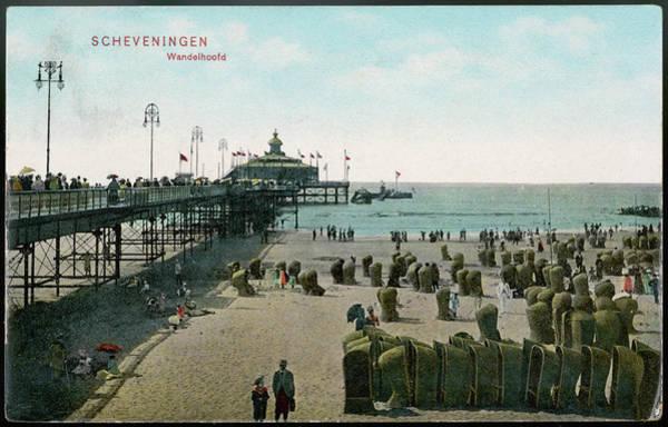 Scheveningen Photograph -  Scheveningen  Beach And Pier by Mary Evans Picture Library
