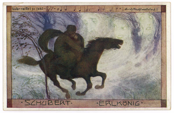 Wall Art - Drawing -  Schubert's 'erlkonig'  (goethe) by Mary Evans Picture Library