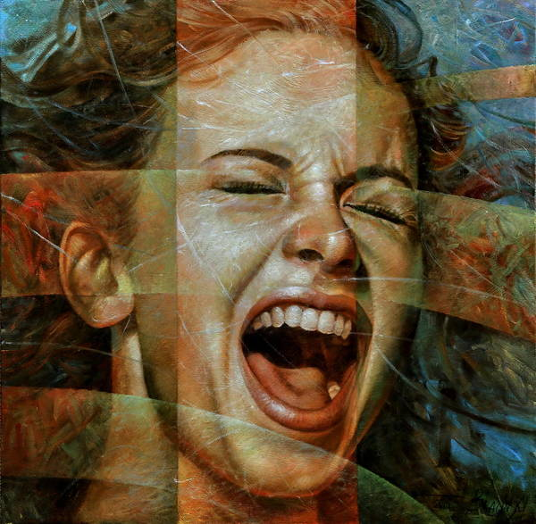 Scream Painting -  Scream 3 by Arthur Braginsky