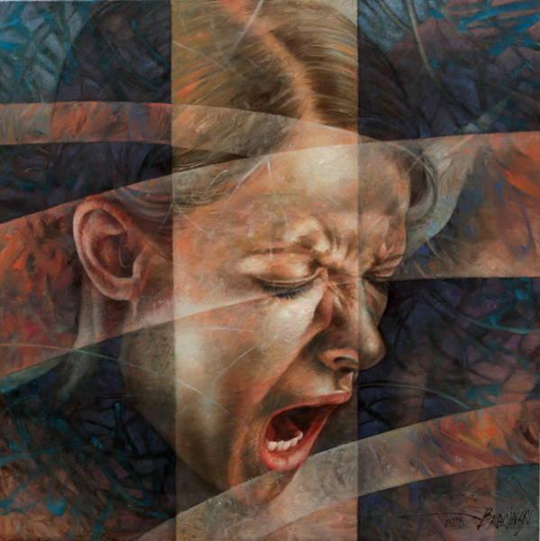 Scream Painting -  Scream4 by Arthur Braginsky