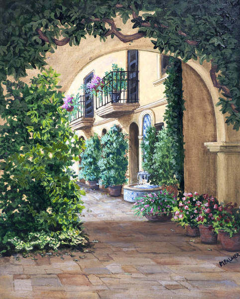Painting -  Sedona Archway by Mary Palmer