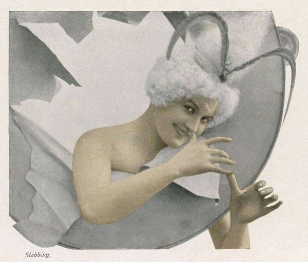 Wall Art - Photograph -  She Thumbs Her Nose by Mary Evans Picture Library
