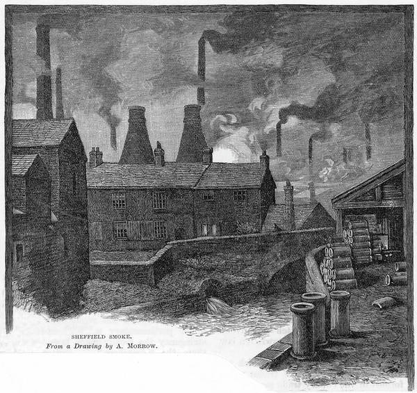 Wall Art - Drawing -  Sheffield, Yorkshire Factories And by Mary Evans Picture Library