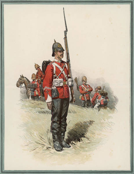 New South Wales Drawing -  South Wales Borderers Private In Heavy by  Illustrated London News Ltd/Mar