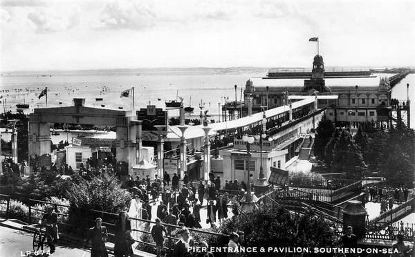 Southend Photograph -  Southend-on-sea, Essex Pier Entrance by Mary Evans Picture Library