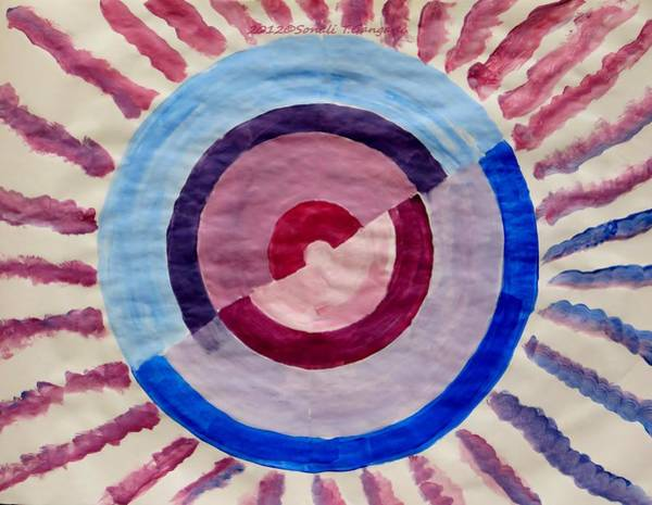 Have A Nice Day Painting -  Spiral Wheel by Sonali Gangane