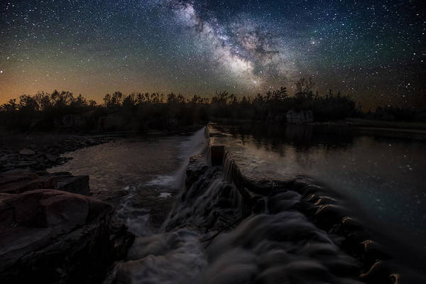 Milky Way Wall Art - Photograph -  Split Rock Dreamscape by Aaron J Groen