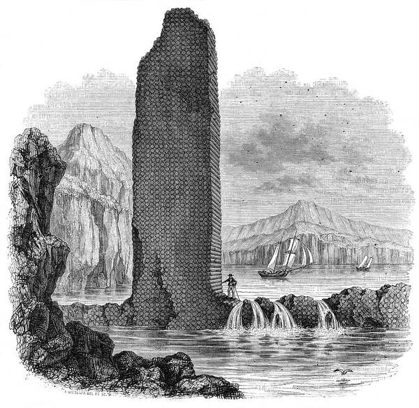 Basalt Drawing -  St Helena  Basalt Needle        Date by Mary Evans Picture Library