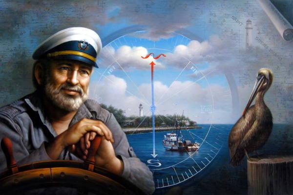 Rudder Painting -  St. Simons Island Sea Captain 5 by Yoo Choong Yeul