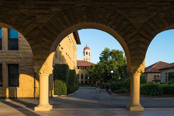 Photograph -  Stanford University Hoover Tower And Bikes by Priya Ghose