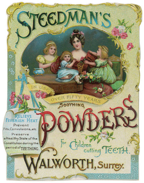 Soothing Drawing -  Steedman's Soothing Powders by Mary Evans Picture Library