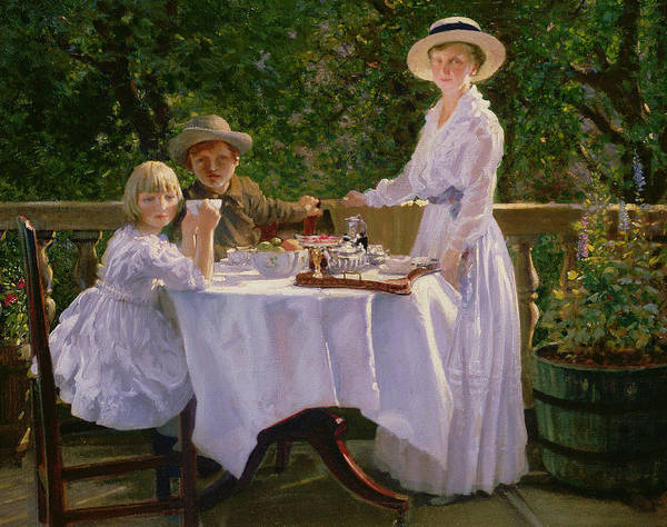 Tablecloth Painting -  Summer Afternoon Tea by Thomas Barrett