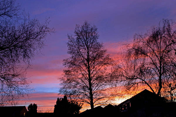 Photograph -  Sun Setting Over Bicester by Tony Murtagh