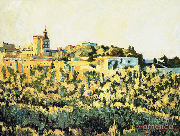 Painting -  Sunset At Avignon by David Lloyd Glover