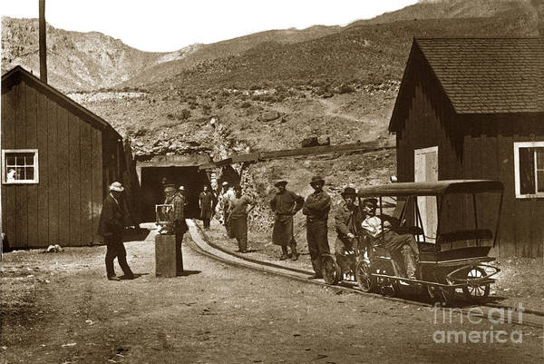 Photograph -  Sutro Tunnel In Virginia City Nevada Circa 1865 by California Views Archives Mr Pat Hathaway Archives