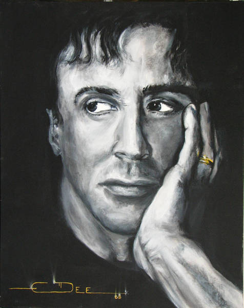 Painting -  Sylvester Stallone by Eric Dee