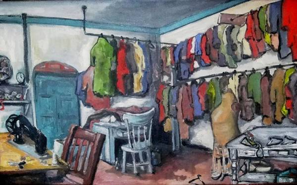 Painting -  Tailor Shop by Dilip Sheth