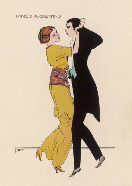 Tango Drawing -  Tango Argentino         Date Circa 1913 by Mary Evans Picture Library