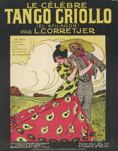 Tango Drawing -  Tango Criollo (= Creole) ('el by Mary Evans Picture Library