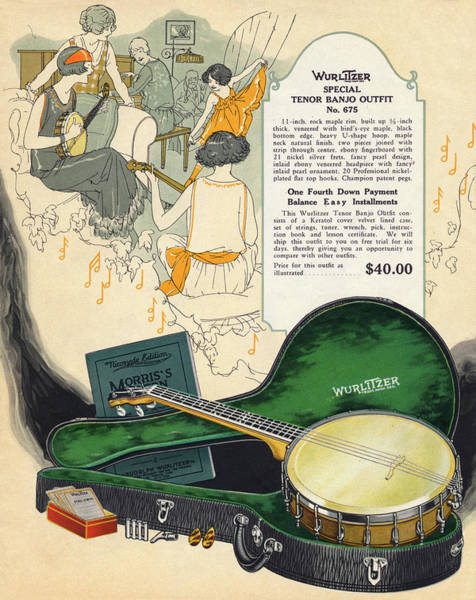 1924 Drawing -  Tenor Banjo Outfit From  The Wurlitzer by Mary Evans Picture Library