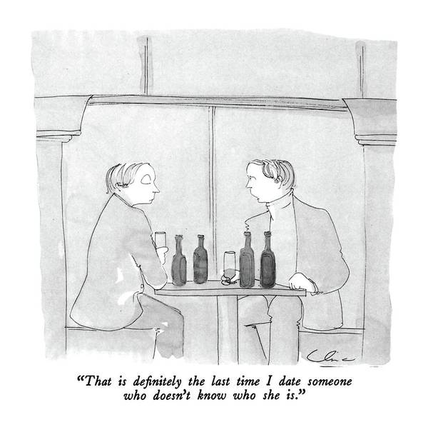 Drink Drawing -  That Is Definitely The Last Time I Date Someone by Richard Cline
