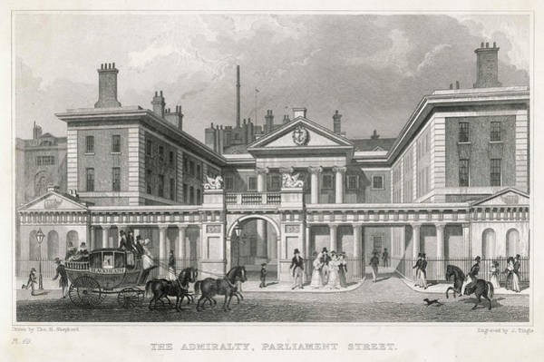 Wall Art - Drawing -  The Admiralty, Parliament  Street Busy by Mary Evans Picture Library