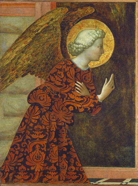 Annunciation Wall Art - Painting -  The Archangel Gabriel by Tommaso Masolino da Panicale