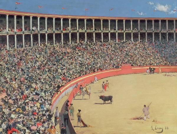 Matador Wall Art - Painting -  The Bullfight by Ramon Casas i Carbo