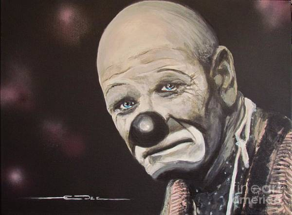 Painting -  The Clown by Eric Dee