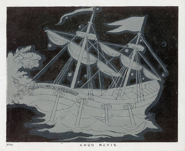 Wall Art - Drawing -  The Constellation Arco Navis  Which by Mary Evans Picture Library