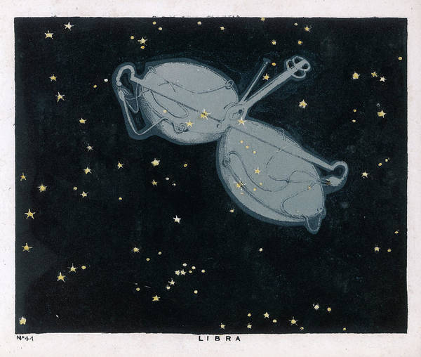 Paranormal Drawing -  The Constellation Of Libra, The Scales by Mary Evans Picture Library