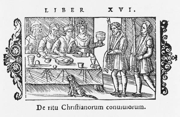 Wall Art - Drawing -  The Convivial Customs Of Christians ! by Mary Evans Picture Library