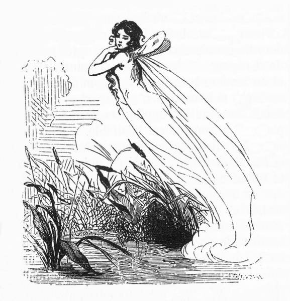 Folklore Drawing -  The Feu Follet (marsh Light)  Depicted by Mary Evans Picture Library