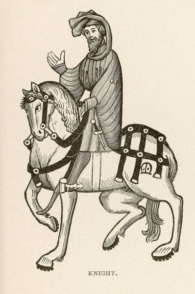 Wall Art - Drawing -  The Knight On A Fine Horse by Mary Evans Picture Library