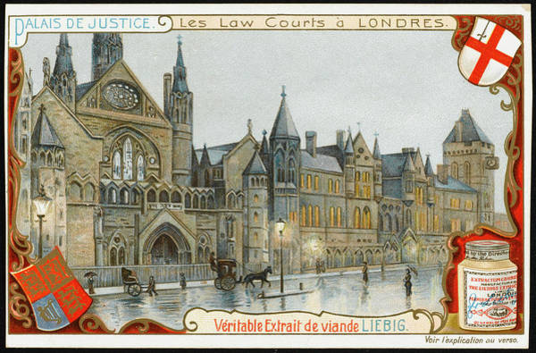 Wall Art - Drawing -  The Law Courts In The Strand/fleet by Mary Evans Picture Library