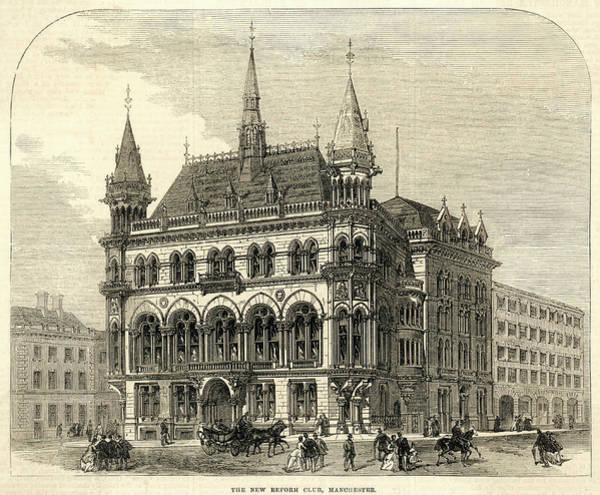 Manchester Drawing -  The New Reform Club by  Illustrated London News Ltd/Mar