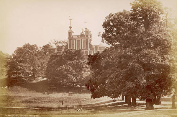 Wall Art - Photograph -  The Observatory, And Part Of The Park by Mary Evans Picture Library