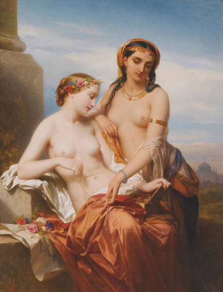 Allegory Wall Art - Painting -  The Orient And The Occident by Nicaise de Keyser