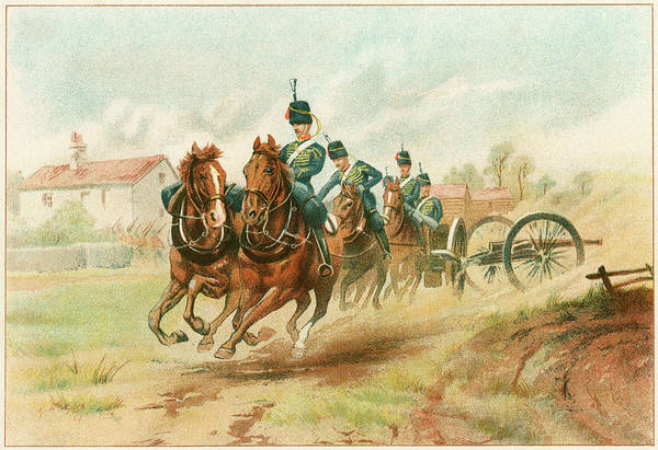 Royal Artillery Wall Art - Drawing -  The Royal Horse Artillery Bringing by Mary Evans Picture Library