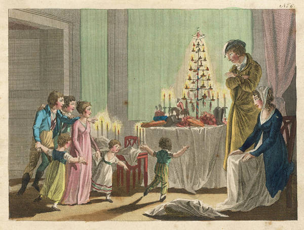 Christmas Tree Drawing -  The Thalberg Children Are  Thrilled by Mary Evans Picture Library
