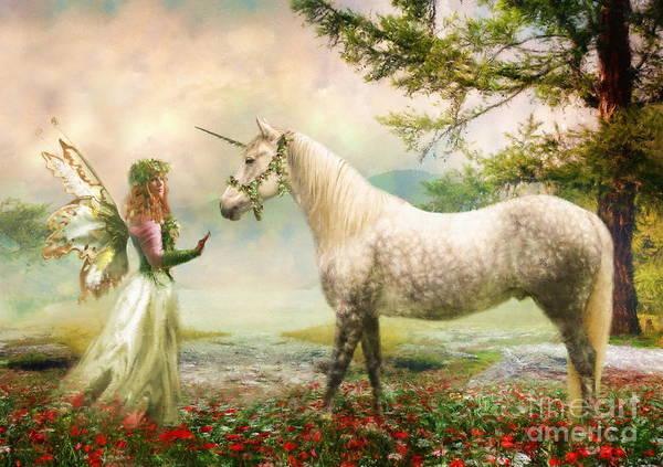 Wall Art - Photograph -  The Unicorn Fairy by Trudi Simmonds
