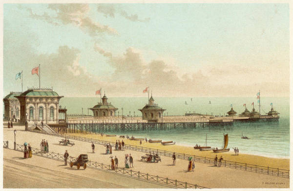 Brighton Pier Drawing -  The West Pier, Brighton         Date by Mary Evans Picture Library