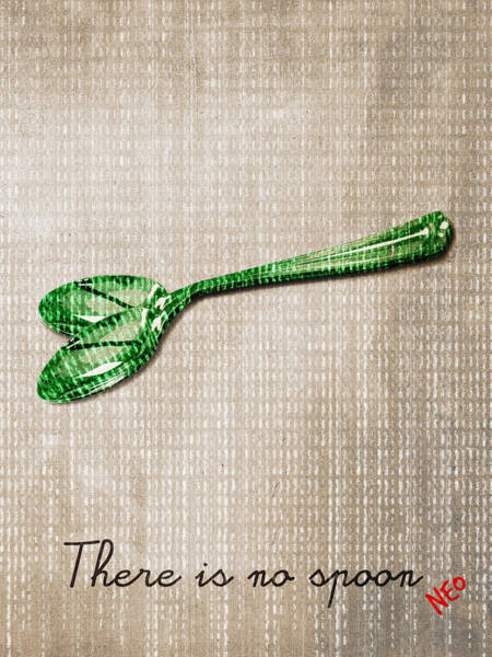 Neo Digital Art -  There Is No Spoon By Neo by Filippo B